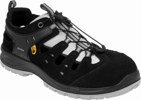 Sandały ochronne Bennon Bombis Lite S1P NM Grey, rozmiar 46, czarny