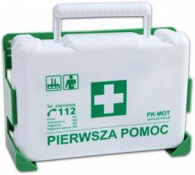 Apteczka PK MOT BD new z wieszakiem, z wyposażeniem  (DIN13164), biały