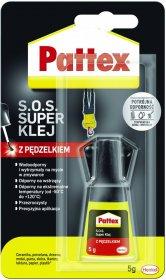 Klej z pędzelkiem Pattex S.O.S. Super Klej, 5g