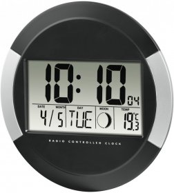 Zegar ścienny Hama DCF PP-245, 24.5cm, elektroniczny, czarny