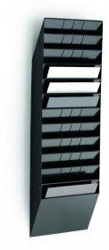 Zestaw 12 półek na dokumenty Durable Flexiboxx, A4, czarny