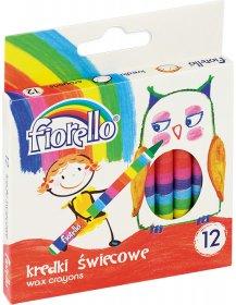 Kredki świecowe Fiorello, 12 sztuk, mix kolorów
