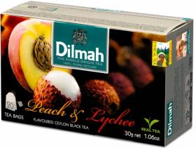 Herbata czarna w torebkach Dilmah Peach & Lychee, brzoskwinia i liczi, 20 sztuk x 1.5g