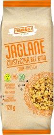 Ciasteczka jaglane Frank&Oli, bez GMO, z orzechami i nasionami chia, 120g