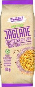Ciasteczka jaglane Frank&Oli, bez GMO, z siemieniem lnianym, sezamem i słonecznikiem, 120g