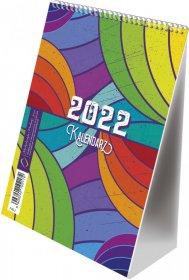 Kalendarz biurkowy ze spiralką MiP 2022, T-103-2, B6, 117x165mm, tygodniowy, 32 kartki