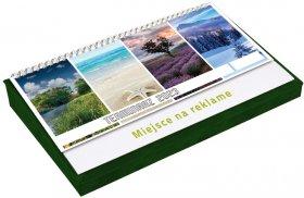 Terminarz na biurko z piórnikiem Udziałowiec 2022, 135x290mm, tygodniowy, zielony