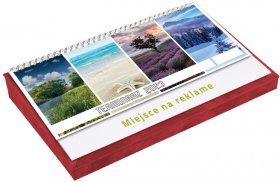 Terminarz na biurko z piórnikiem Udziałowiec 2022, 135x290mm, tygodniowy, czerwony