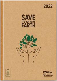 Kalendarz książkowy Herlitz 2022, Ecoline Drzewa, A5, dzienny, 180 kartek, brązowy