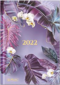 Kalendarz książkowy Herlitz 2022, Boho, A5, tygodniowy, 72 kartki, fioletowy