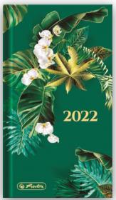 Kalendarz kieszonkowy Herlitz 2022, Boho, A6, tygodniowy, 72 kartki, zielony
