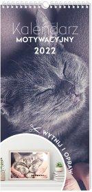 Kalendarz ścienny motywacyjny Interdruk 2022, 22x46cm, miesięczny, Zwierzaki