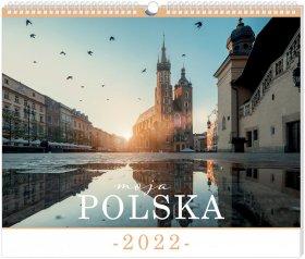 Kalendarz ścienny Interdruk 2022, planszowy, 335x400mm, Polska