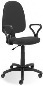 Krzesło obrotowe Nowy Styl Prestige C-73, profil GTP, szaro-czarny