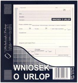 Druk akcydensowy Wniosek o urlop MiP, 2/3 A5, offsetowy, 40k