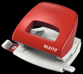 Dziurkacz Leitz New NeXXt, średni, do 16 kartek, czerwony