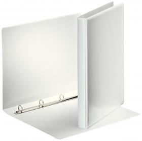 Segregator prezentacyjny Esselte Panorama, A4, szerokość grzbietu 30mm, do 140 kartek, 4 ringi, biały