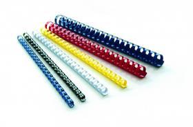 Grzbiety do bindowania Argo, plastik, 19mm, 100 sztuk, czerwony