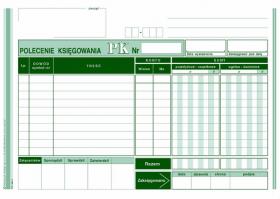 Druk akcydensowy Polecenie księgowania MiP, A5, offsetowy, 80k