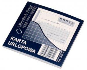 Druk akcydensowy Karta urlopowa MiP, 2/3 A6, offsetowy, 40k