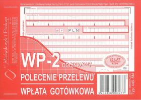 Druk akcydensowy Polecenie przelewu/wpłata gotówkowa MiP, A6, 1 kopia, 80k