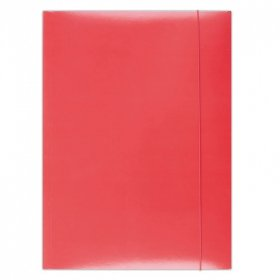 Teczka kartonowa z gumką Barbara, A4, 3mm, czerwony