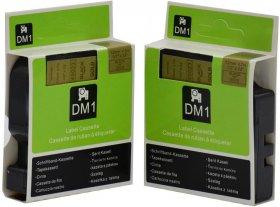 Taśma Dymo D1, 19mm x 7m, czarny nadruk, taśma-złota
