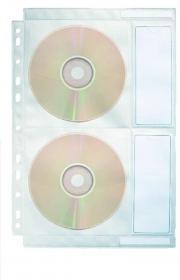 Koszulka z oknem na CD/DVD Esselte, 10 sztuk, przezroczysty