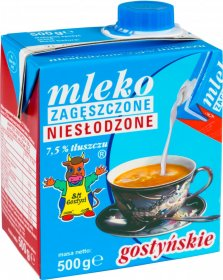 Mleko zagęszczone niesłodzone Gostyń, 7.5%, 500g