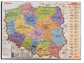 Podkład na biurko Esselte, Mapa Polski, 65x50cm