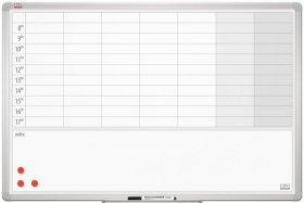 Planer 2x3, tygodniowy, 90x60cm, biały