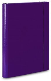Teczka z gumką laminowana VauPe Large 2, A4, 20mm, fioletowy