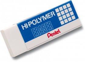 Gumka ołówkowa Pentel ZEH Hi-Polymer, 43x17.4x11.7mm, biały