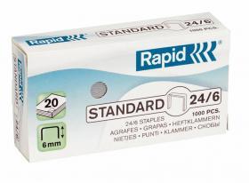 Zszywki Rapid Standard 24/6, 1000 sztuk, srebrny
