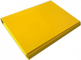 Teczka skrzydłowa VauPe, A4, 40mm, na rzep, żółty