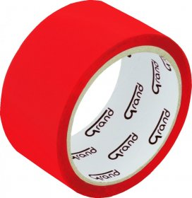 Taśma pakowa, Grand, 48mmx50yd, czerwony