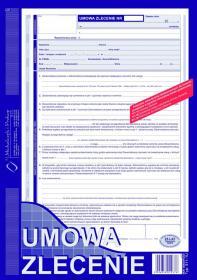 Druk akcydensowy Umowa zlecenie MiP, A4, 1 kopia, 40k