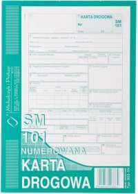 Druk akcydensowy Karta drogowa SM-101 MiP, A5, offsetowy, numerowana, 80k