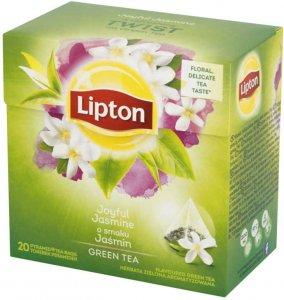 Herbata zielona smakowa w piramidkach Lipton Green Tea Jasmine Petals, płatki jaśminu, 20 sztuk x 1.7g