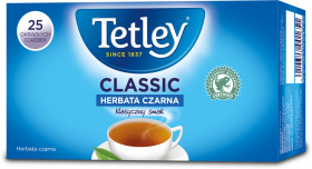 Herbata czarna w torebkach Tetley Classic, 25 sztuk x 1.6g
