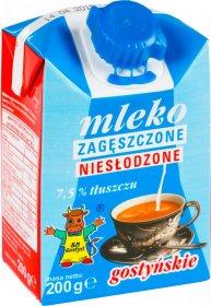 Mleko zagęszczone niesłodzone Gostyń, 7.5%, 200ml