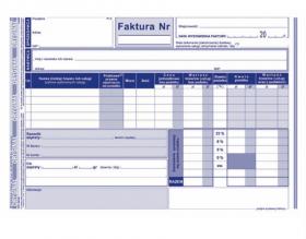 Druk akcydensowy Faktura VAT netto pełna 103-3e MiP, A5, 1 kopia, 80k