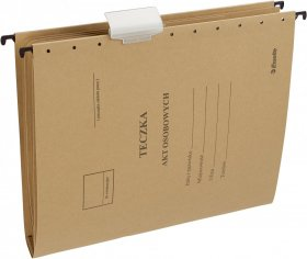 Teczka zawieszana kartonowa do akt osobowych Esselte, A4, 348x268mm, 230 g/m2, brązowy