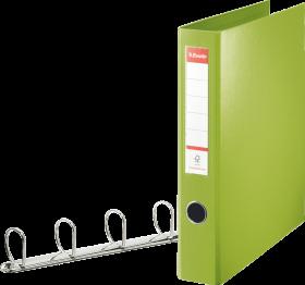 Segregator Esselte Combi, A4, szerokość grzbietu 60mm, do 380 kartek, 4 ringi, zielony