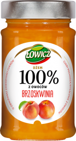 Dżem Łowicz 100% z owoców, brzoskwiniowy, 220g