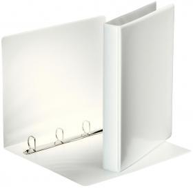 Segregator prezentacyjny Esselte, A4, szerokość grzbietu 40mm, do 230 kartek, 4 ringi, biały