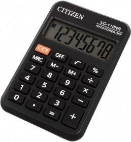 Kalkulator kieszonkowy Citizen LC-110NR, 8 cyfr, czarny