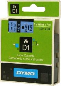 Taśma Dymo D1, 12mm x 7m, nadruk czarny, taśma-niebieska
