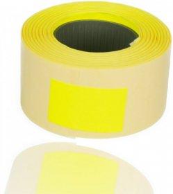 Taśma do metkownicy Studio Cen, DT, 700 stykiet, 26x16mm, żółty