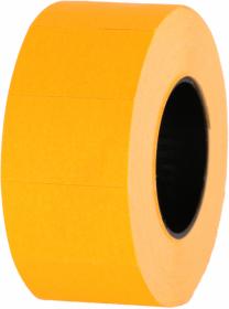 Taśma do metkownicy Studio Cen, dwurzędowa Hallo, 24x14mm, 700 etykiet, bez nacięć, pomarańczowy